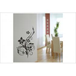 Blüten Blumen Wandaufkleber Wandtattoo Ranke Dekor Tattoo Tribal
