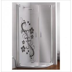 Glas Dekor Aufkleber Blumen Ranke Blüten Tribal Tattoo Fenster, Lack & Glas