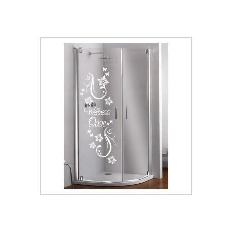 Glas Dekor Aufkleber Blumen Ranke Wellness Oase  Tribal Tattoo Fenster, Lack & Glas