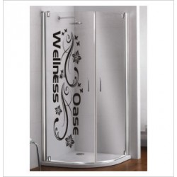 Glas Dekor Aufkleber Wellness Oase Spa Blumen Ranke  Tribal Tattoo Fenster, Lack & Glas