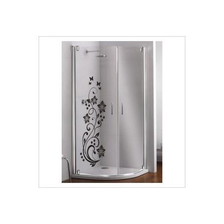 Glas Dekor Aufkleber Blumen Ranke Schmetterlinge Blüten  Tribal Tattoo Fenster, Lack & Glas