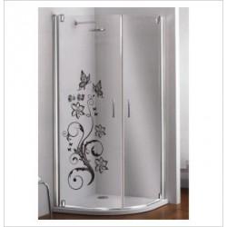 Glas Dekor Aufkleber Blumen Ranke Blüten Schmetterlinge  Tribal Tattoo Fenster, Lack & Glas