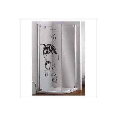 Glas Dekor Aufkleber Spa Delphin Wasser Fisch Tribal Tattoo Fenster, Lack & Glas