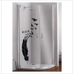 Glas Dekor Aufkleber Feder Möwen Vogel Frei  Tribal Tattoo Fenster, Lack & Glas