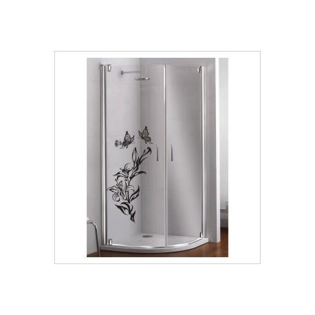 Glas Dekor Aufkleber Blumen Ranke Lilie Schmetterling  Tribal Tattoo Fenster, Lack & Glas