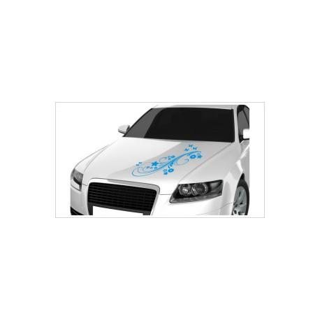 Motorhauben Aufkleber Auto Blumen Dekor Schmetterling  Tattoo Sticker Lack & Glas