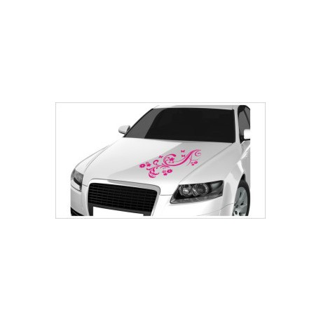 Motorhauben Aufkleber Auto Ranke Dekor Schmetterling Tattoo Sticker Lack & Glas