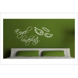 Engel Flügel Landeplatz  Wandaufkleber Wandtattoo Aufkleber Wand Tattoo Schlafzimmer