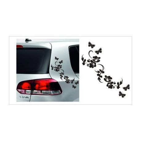 Blumen Dekor Efeu SET Aufkleber Tattoo Auto Car Style Tuning Heckscheibe Lack & Glas