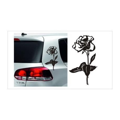 Rose Rosen Dekor SET Aufkleber Tattoo Auto Car Style Tuning Heckscheibe Lack & Glas