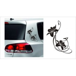 Blumen Dekor SET  Aufkleber Tattoo Auto Car Style Tuning Heckscheibe Lack & Glas