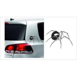 Spinne Spider  Aufkleber SET  Tattoo Auto Car Style Tuning Heckscheibe Lack & Glas
