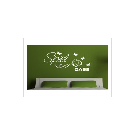 Spiel Oase Love Paar Liebe Wiese Blumen Wandaufkleber Wandtattoo Aufkleber Wand Tattoo Schlafzimmer