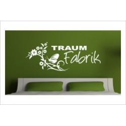 Traum Fabrik Schrift Dekor Schmetterling Blumen Wandaufkleber Wandtattoo Aufkleber Wand Tattoo Schlafzimmer