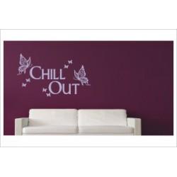 Chill Out Zone Ausruhen Relaxen Text Dekor Wandaufkleber Wandtattoo Aufkleber Wand Tattoo Schlafzimmer