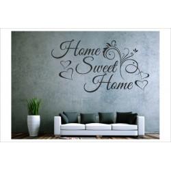 Herzlich Willkommen Home Sweet Home  Welcome Wandaufkleber Wandtattoo Aufkleber