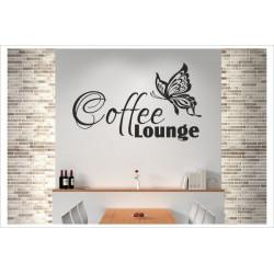 Coffee Lounge Tasse Kaffee Café Wandaufkleber Wandtattoo Aufkleber Küche Essen Genießen Kochen