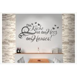 Küche ist das Herz des Hauses Wandaufkleber Wandtattoo Aufkleber Küche Essen Genießen Kochen