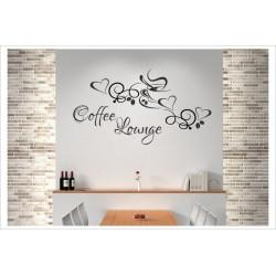 Coffee Lounge Zeit für Kaffee Wandaufkleber Wandtattoo Aufkleber Küche Essen Genießen Kochen