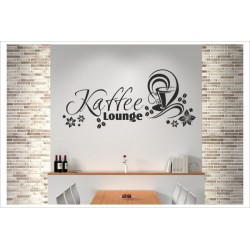 Kaffee Lounge Tasse Zeit Genuß Wandaufkleber Wandtattoo Aufkleber Küche Essen Genießen Kochen