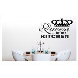 Queen of the KITCHEN Wandaufkleber Wandtattoo Aufkleber Küche Essen Genießen Kochen