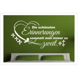 Wandaufkleber Schlafzimmer Erinnerungen zu Zwei Spruch Zitat  Tattoo Aufkleber Wand