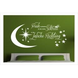Wandaufkleber Schlafzimmer Frühaufsteher Sleep Dekor  Tattoo Aufkleber Wand