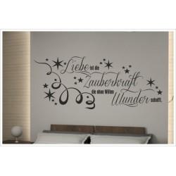 Wandaufkleber Schlafzimmer Zauberkraft der Liebe Zitat Spruch  Tattoo Aufkleber Wand