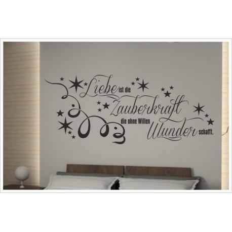 Wandaufkleber Schlafzimmer Zauberkraft der Liebe