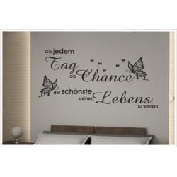 Wandaufkleber Schlafzimmer Tag Chance Zitat Spruch  Tattoo Aufkleber Wand