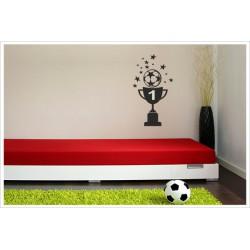 Wandaufkleber Fußball Kids Kicker Spieler Football Pokal  Wandtattoo Aufkleber  Soccer