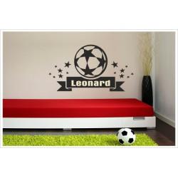 Wandaufkleber Fußball Kids Kicker Spieler Football Ball + Name  Wandtattoo Aufkleber  Soccer