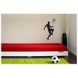 Wandaufkleber Fußball Kids Kicker Spieler Football Ball  Wandtattoo Aufkleber  Soccer