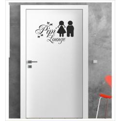 Pipi Lounge Wandaufkleber Aufkleber Tür Zimmer Schriftzug Bad WC Spa