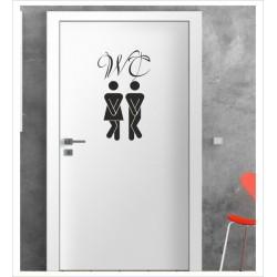 WC Wandaufkleber Aufkleber Tür Zimmer Schriftzug Bad Badezimmer