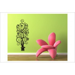 Baum Bäumchen Blüten Blumen Wandaufkleber Wandtattoo Ranke Dekor Tattoo Tribal