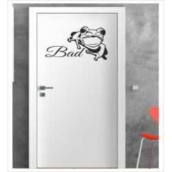 Frosch Wandaufkleber Aufkleber Tür Zimmer Schriftzug WC Bad Spa Kröte Wasser