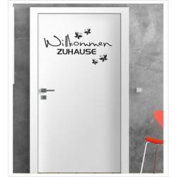 """Herzlich Willkommen Wandaufkleber Aufkleber Tür Zimmer Schriftzug Haustür """"komm rein"""""""