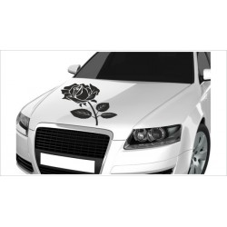 Motorhauben Aufkleber Auto Rosen Rose Dornen Dekor Tattoo Sticker Lack & Glas