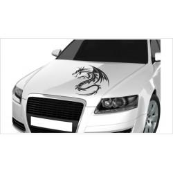 Motorhauben Aufkleber Auto Drache Asia Dragon Tattoo Sticker Lack & Glas
