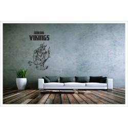 Nordic Viking Wikinger Walhall Odin Tattoo Sticker Aufkleber Wandtattoo Wandaufkleber