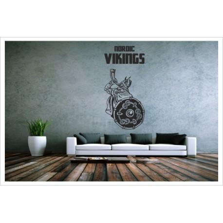 Wandaufkleber WOHNZIMMER Nordic Viking 148