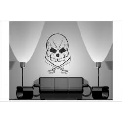 Wandaufkleber WOHNZIMMER Skull Totenkopf Pirat 155