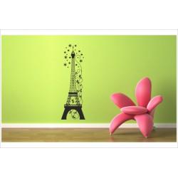 Wandaufkleber WOHNZIMMER 160 Eiffelturm