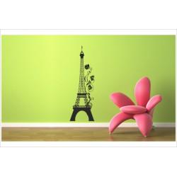 Wandaufkleber WOHNZIMMER 161 Eiffelturm