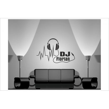Wandaufkleber WOHNZIMMER 171 DJ MUSIC Musik