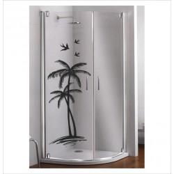 Glas Dekor Aufkleber Palme Sonne Urlaub Meer Möwen  Tribal Tattoo Fenster, Lack & Glas
