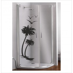 Glas Dekor Aufkleber PALME 44Glas Dekor Aufkleber Palme Sonne Urlaub Meer Möwen  Tribal Tattoo Fenster, Lack & Glas