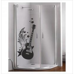 Glas Dekor Aufkleber Hard Rock Gitarre 46 Fenster Lack & Glas