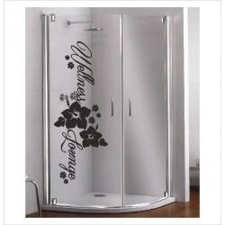 Glas Dekor Aufkleber Wellness Lounge Blume 50 Fenster Lack & Glas